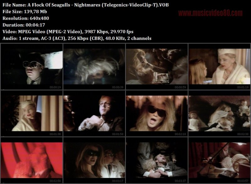 A Flock Of Seagulls - Nightmares (Telegenics-VideoClip-T)