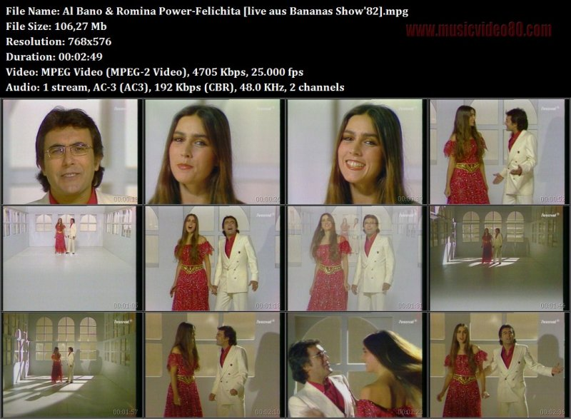 Al Bano & Romina Power - Felichita ( Bananas Show' )