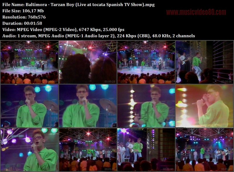 Baltimora - Tarzan Boy (Live at tocata Spanish TV Show)