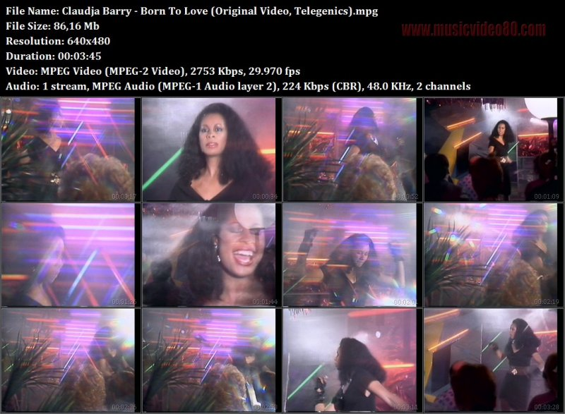 Claudja Barry - Born To Love (Original Video, Telegenics)