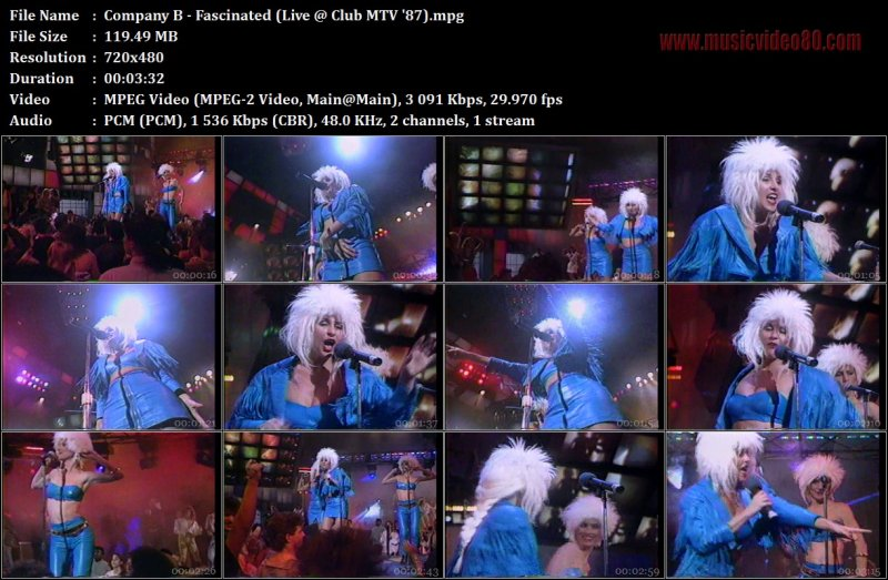 Company B - Fascinated (Live @ Club MTV '87)