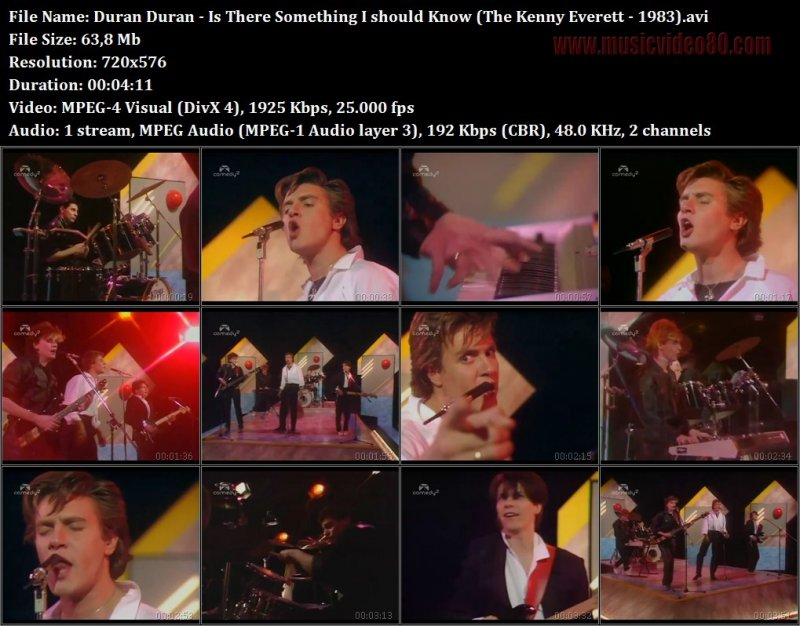 Duran Duran - Is There Something I should Know (The Kenny Everett - 1983)