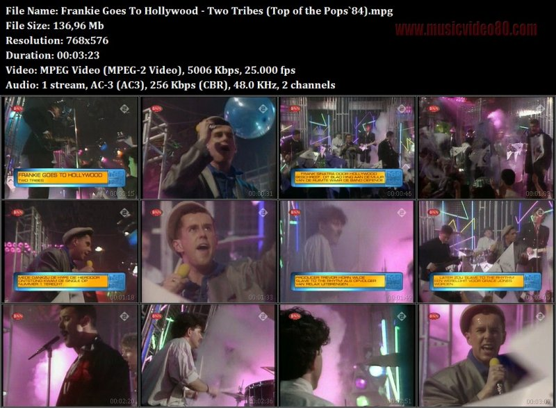 Frankie Goes To Hollywood - Two Tribes (Top of the Pops`84)