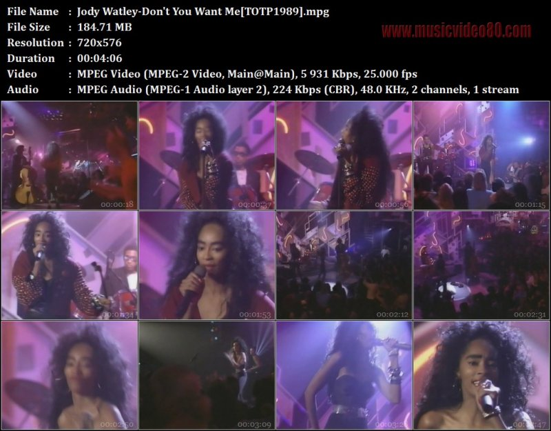 Jody Watley - Don't You Want Me (TOTP1989 )