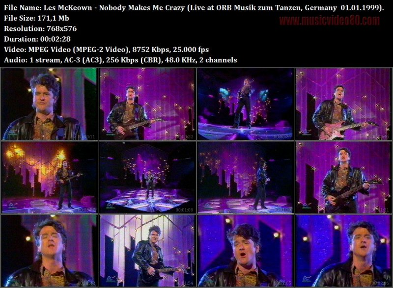 Les McKeown - Nobody Makes Me Crazy (Live at ORB Musik zum Tanzen, Germany  01.01.1999)