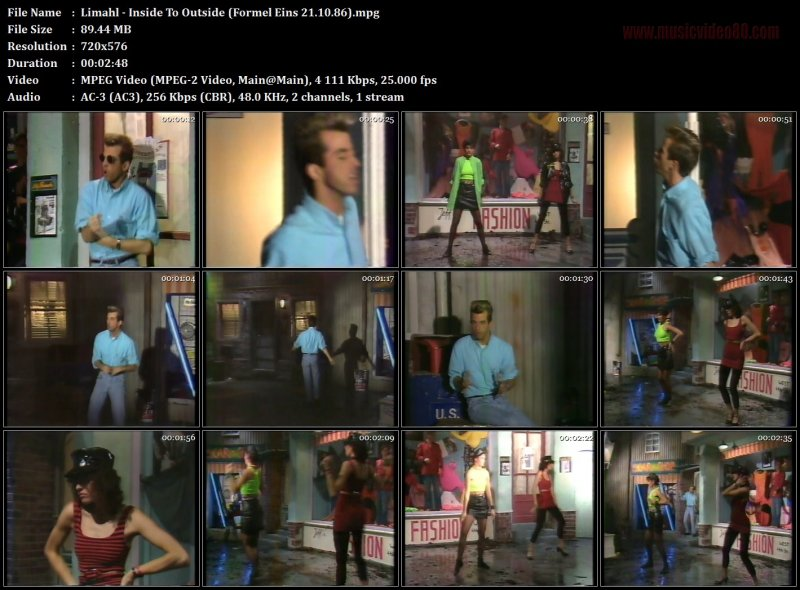 Limahl - Inside To Outside (Formel Eins 21.10.86)