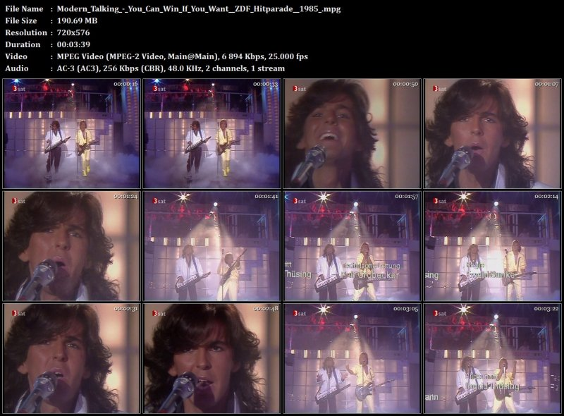 Modern Talking - You Can Win If You Want ( ZDF Hitparade 1985 )