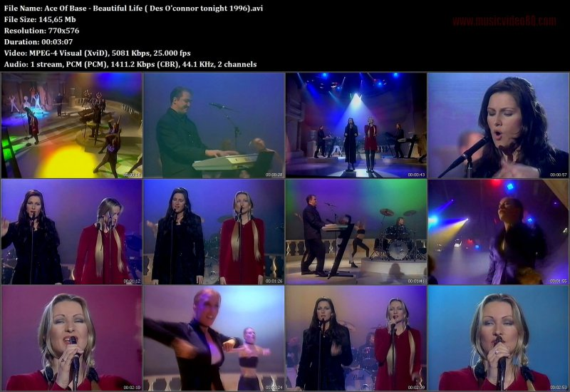 Ace Of Base - Beautiful Life ( Des O'connor tonight 1996)