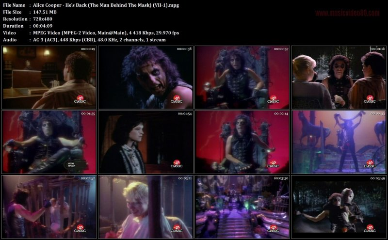 Alice Cooper He S Back The Man Behind The Mask Vh 1 Musicvideo80 Com