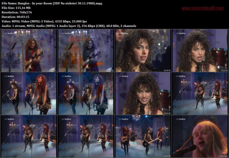 Bangles - In your Room (ZDF Na siehste! 30.11.1988)