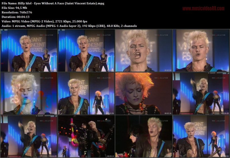 Billy Idol - Eyes Without A Face (Saint Vincent Estate).