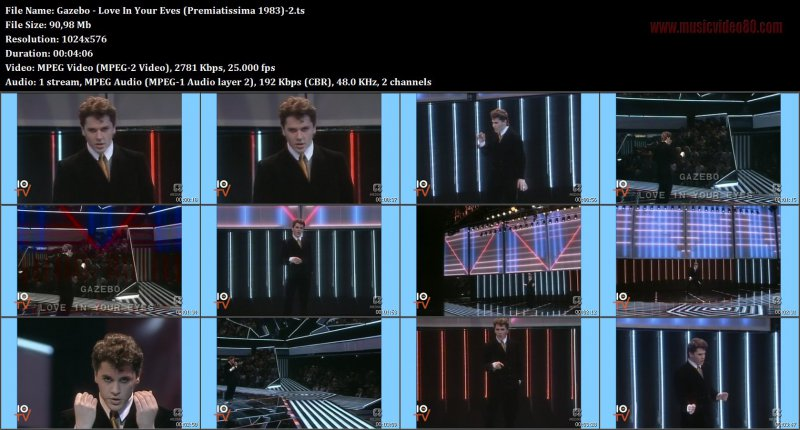 Gazebo - Love In Your Eves (Premiatissima 1983)