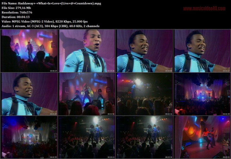 Haddaway - What Is Love ( Live @ Countdown )