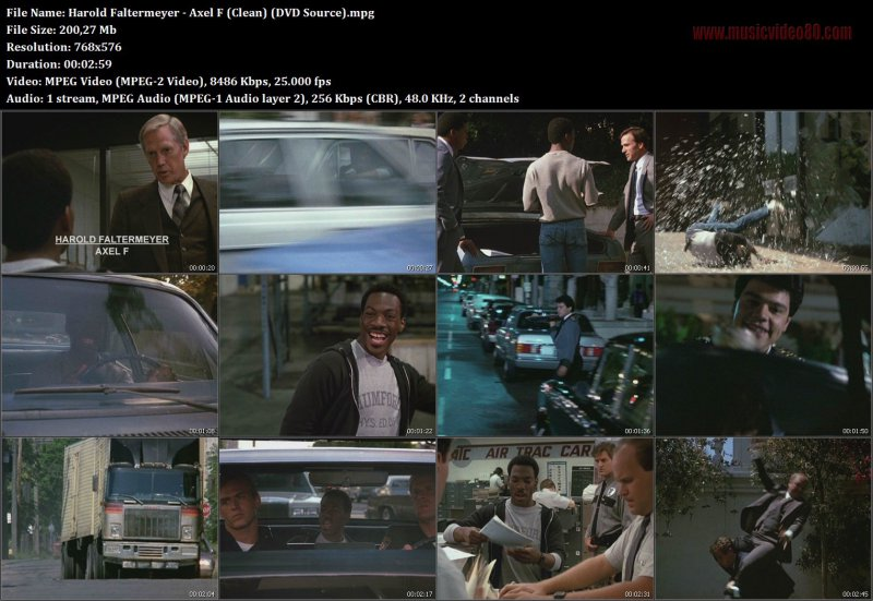 Harold Faltermeyer - Axel F (Clean) (DVD Source)