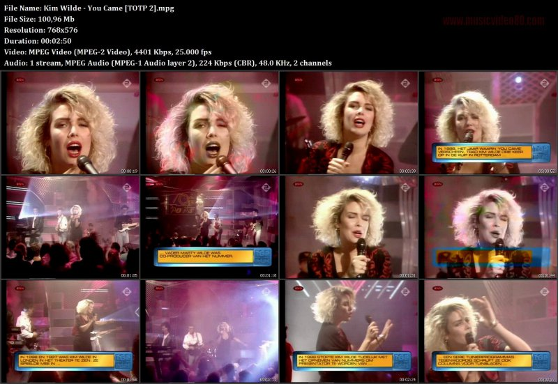 Kim Wilde - You Came ( TOTP 2 )
