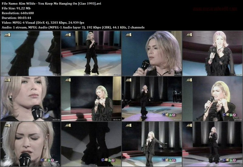 Kim Wilde - You Keep Me Hanging On [Ciao 1993]