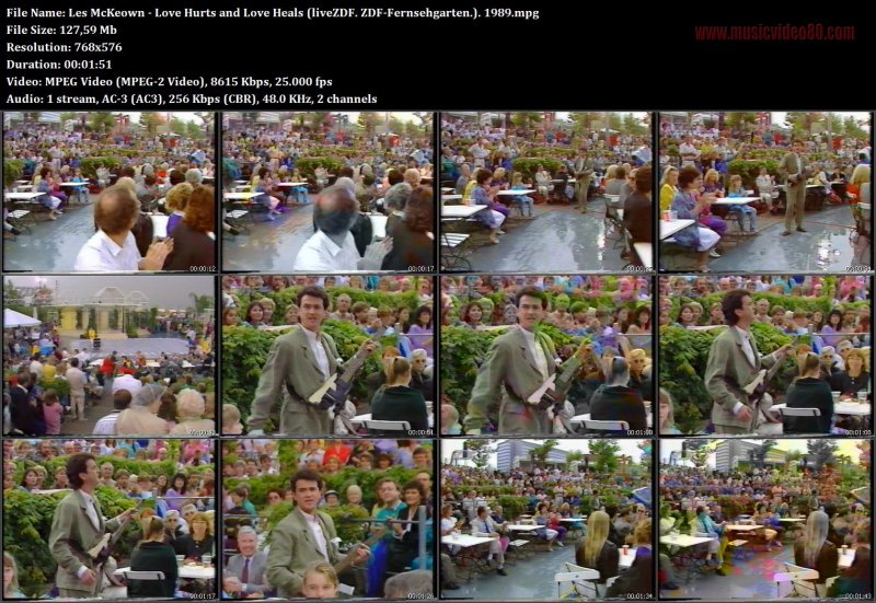 Les McKeown - Love Hurts and Love Heals ( ZDF-Fernsehgarten 1989 )
