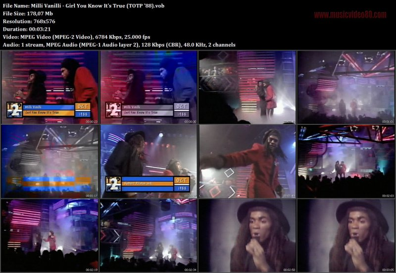 Milli Vanilli - Girl You Know It's True (TOTP '88)