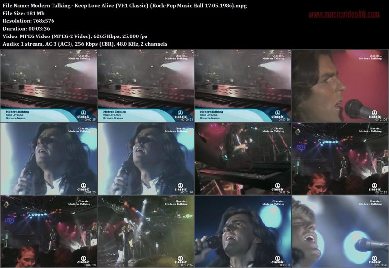 Modern Talking - Keep Love Alive (VH1 Classic) (Rock-Pop Music Hall 17.05.1986)