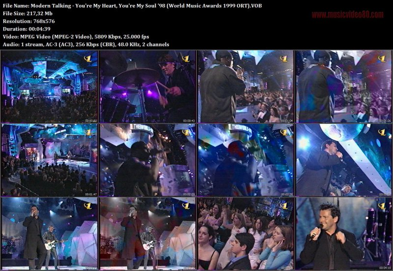 Modern Talking - You're My Heart, You're My Soul '98 (World Music Awards 1999 ORT)