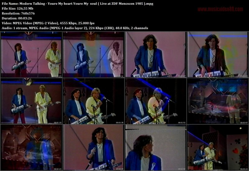 Modern Talking - Youre My heart Youre My  soul ( Live at ZDF Mencscen 1985 )