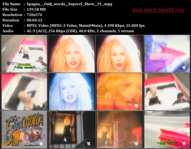 Spagna - Only words ( Superclassifica Show 91 )