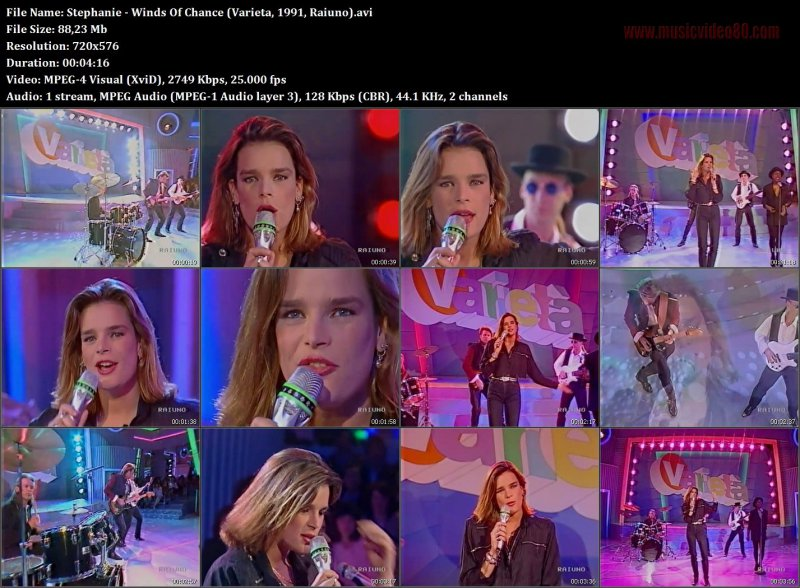 Stephanie - Winds Of Chance ( Varieta, 1991, Raiuno )