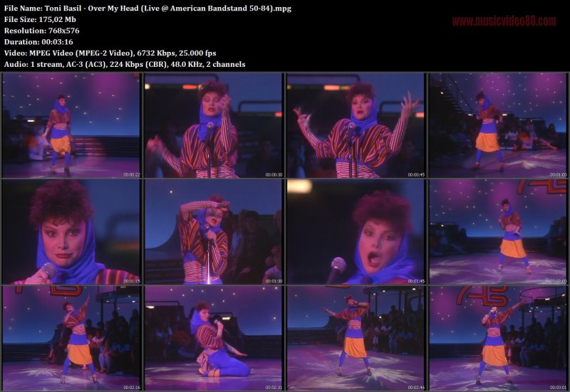 Toni Basil - Over My Head (Live @ American Bandstand 50-84)