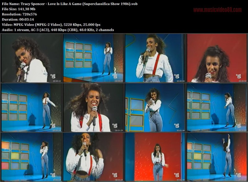 Tracy Spencer - Love Is Like A Game (Superclassifica Show 1986).