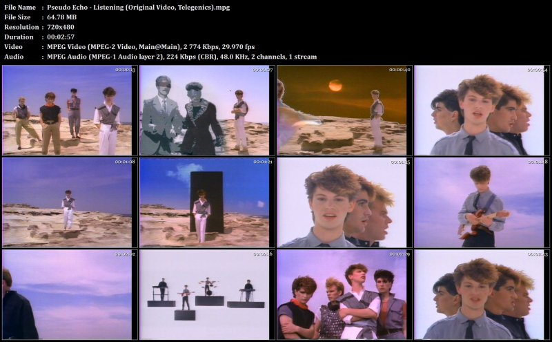 Pseudo Echo - Listening (Original Video, Telegenics)