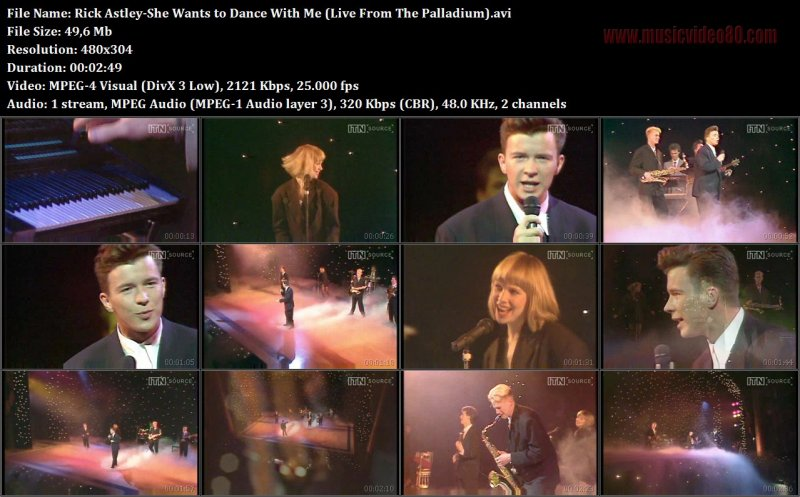 Rick Astley - She Wants to Dance With Me (Live From The Palladium)