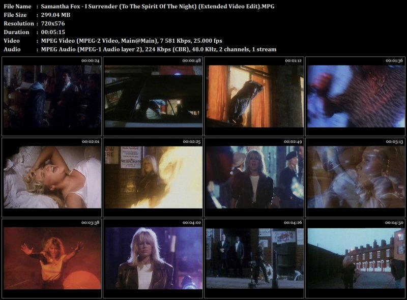 Samantha Fox - I Surrender (To The Spirit Of The Night) (Extended Video Edit)