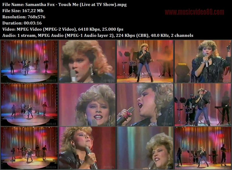 Samantha Fox - Touch Me (Live at TV Show)