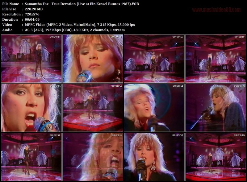 Samantha Fox - True Devotion (Live at Ein Kessel Buntes 1987)