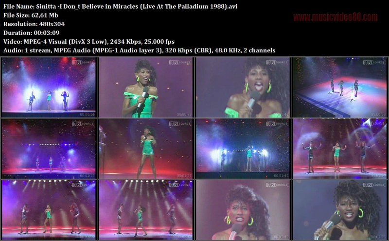 Sinitta - I Don_t Believe in Miracles (Live At The Palladium 1988)