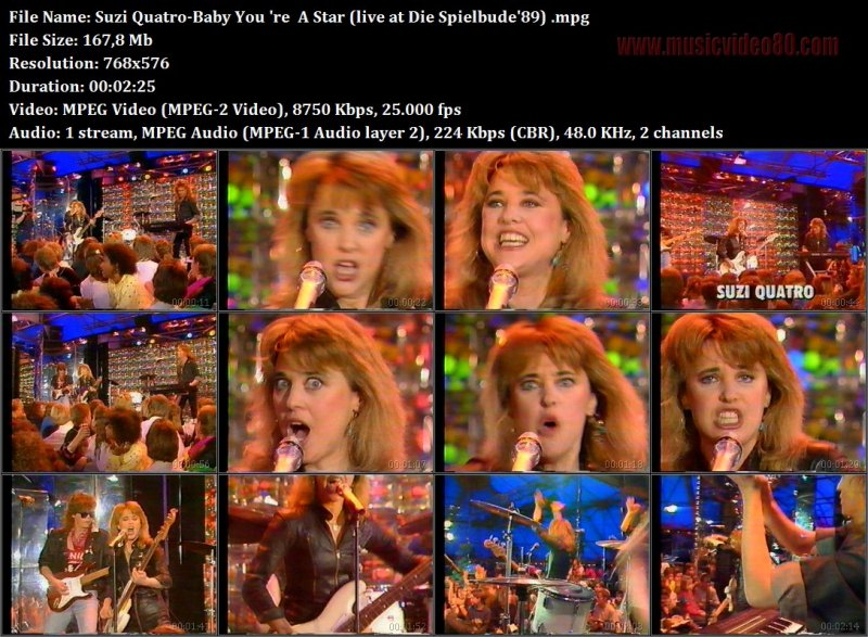 Suzi Quatro - Baby You 're  A Star ( Die Spielbude'89)